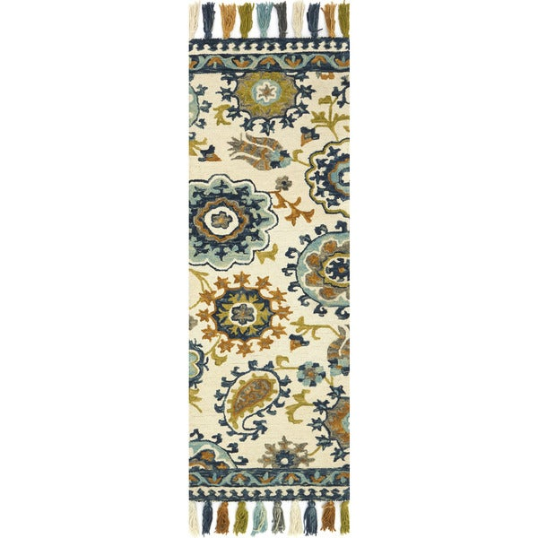 Hand-hooked Lena Floral Paisley Rug