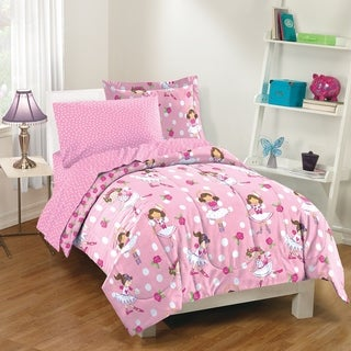 Dream Factory Tippy Toes 7-piece Bed in a Bag with Sheet Set