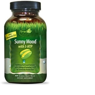 Irwin Naturals Sunny Mood with 5 HTP (80 Soft Gel Tablets)