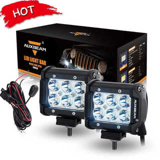 Auxbeam Cree Offroad 4-inch 18W LED Spot-beam Dual-row Worklight Bar (2-piece set)