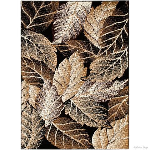 Allstar Modern Abstract Leaves Design Rug
