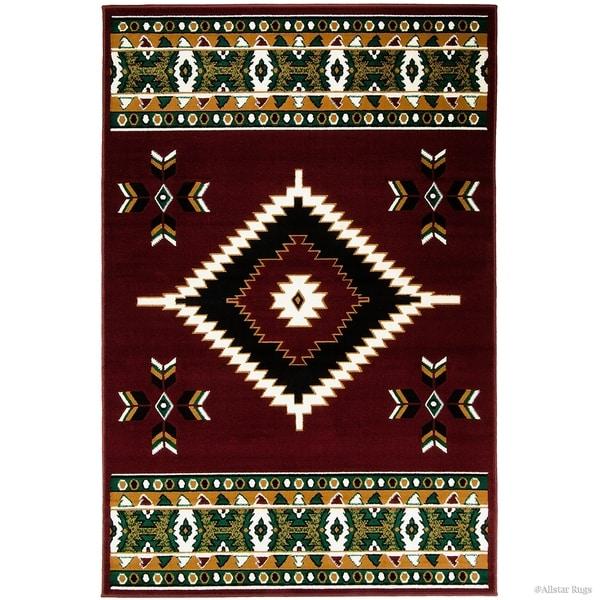 Allstar Woven Southwestern Geometric Rug