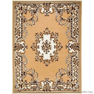 Allstar Woven Traditional Persian Floral Design Rug (Beige 70 x 52)