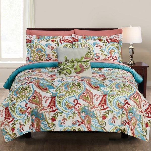 Amrapur Overseas Kailyn 8-Piece Printed Reversible Bed in a Bag - Multi