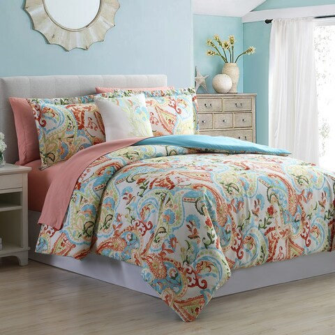 Amrapur Overseas Kailyn 8-Piece Printed Reversible Bed in a Bag