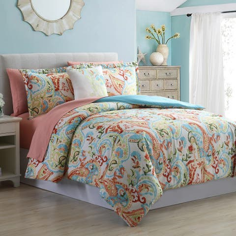 Amrapur Overseas Kailyn 8-Piece Printed Reversible Bed in a Bag - Multi