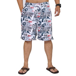 Jean Legacy Graphic Design Drawstring Boardshorts
