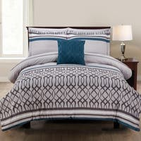 Amrapur Overseas Kiev Stripe 8-Piece Printed Reversible Bed in a Bag