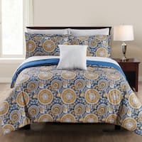 Amrapur Overseas Lana 8-Piece Printed Reversible Bed in a Bag