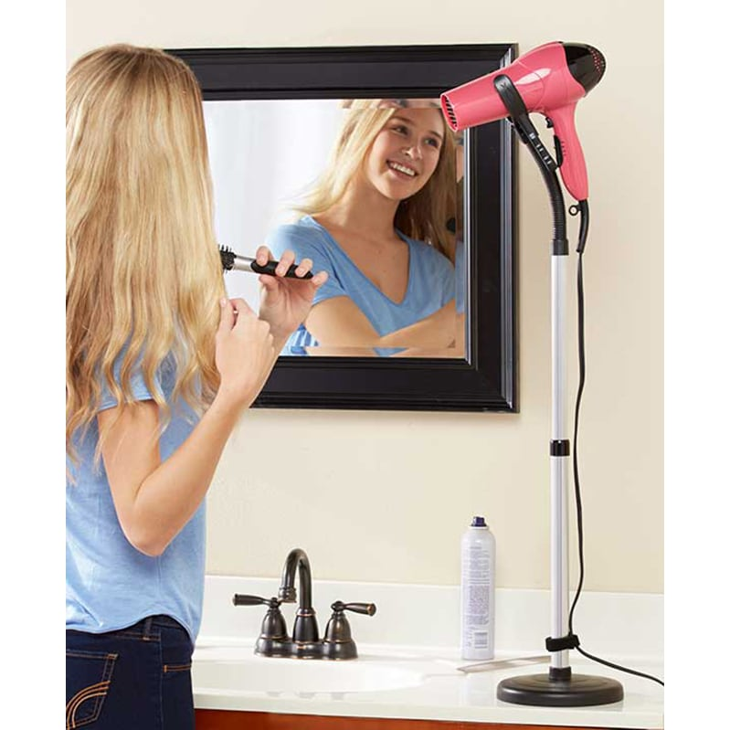Hands-Free Hair Dryer Stand (Hair Dryer Holder), Black