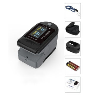 Concord EAD Elite Fingertip Pulse Oximeter with Alarms and 6-position Display