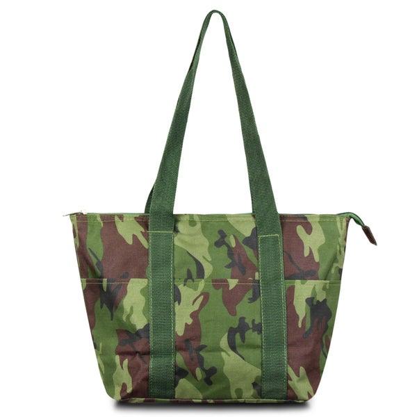 shop zodaca fashion camoflague large insulated zip top lunch bag women tote cooler picnic travel. Black Bedroom Furniture Sets. Home Design Ideas