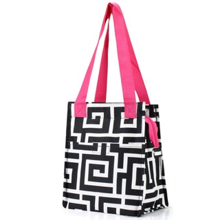 Zodaca Black Key/ Black Trim Insulated Lunch Bag Women Tote Cooler Picnic Travel Food Box Zipper Carry Bags for Campin