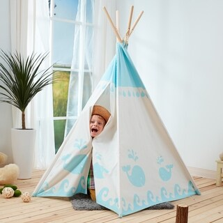 Teamson Kids - Kids Canvas Teepee (Option: Green)|https://ak1.ostkcdn.com/images/products/17100450/P23370605.jpg?_ostk_perf_=percv&impolicy=medium