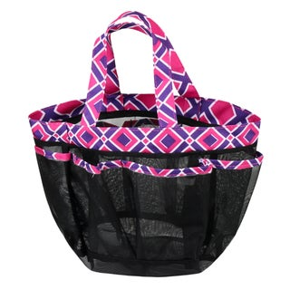 Zodaca Purple/ Pink Lightweight Mesh Shower Caddie Bag Quick Dry Bath Organizer Carry Tote Bag for Gym Camping