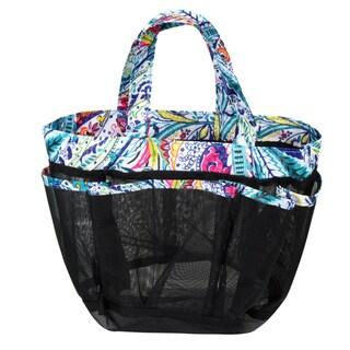 Zodaca Blue Paisley Lightweight Mesh Shower Caddie Bag Quick Dry Bath Organizer Carry Tote Bag for Gym Camping