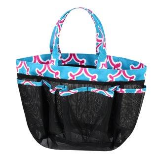 Zodaca Blue Quatrefoil Lightweight Mesh Shower Caddie Bag Quick Dry Bath Organizer Carry Tote Bag for Gym Camping