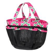 Zodaca Pink Quatrefoil Lightweight Mesh Shower Caddie Bag Quick Dry Bath Organizer Carry Tote Bag for Gym Camping
