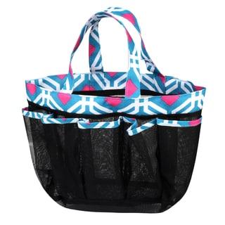 Zodaca Blue Graphic Lightweight Mesh Shower Caddie Bag Quick Dry Bath Organizer Carry Tote Bag for Gym Camping