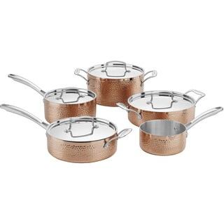 Cuisinart Hammered Copper Tri-Ply 9-Piece Cookware Set, Copper