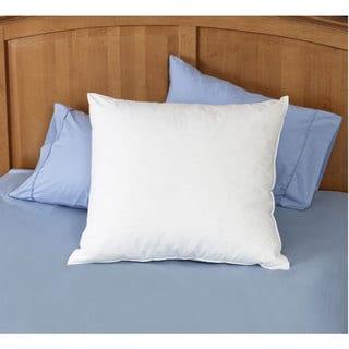 Natural Feather 26 x 26 Euro Square Pillows (Set of 2) - White