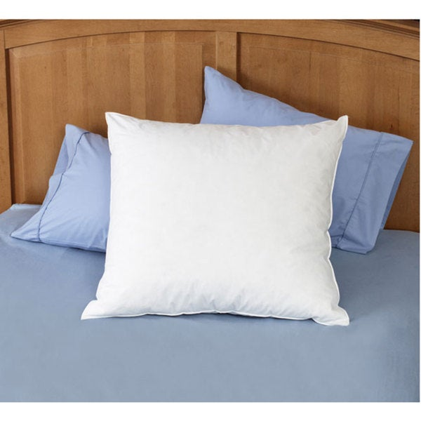Natural Feather 26 X Euro Square Pillows Set Of 2 White