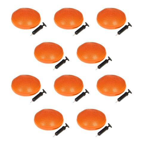 PVC Fitness and Balance Disc - 13-Inch Diameter - Set of 10 - By Trademark Innovations