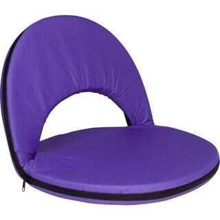 Portable Multiuse Adjustable Recliner Stadium Seat by Trademark Innovations (Purple)