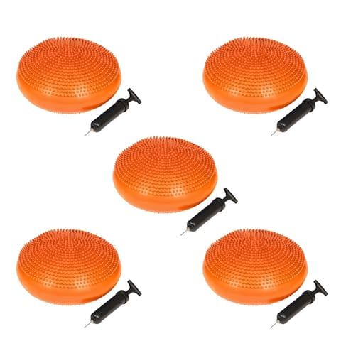 PVC Fitness and Balance Disc - 13-Inch Diameter - Set of 5 - By Simply Sports