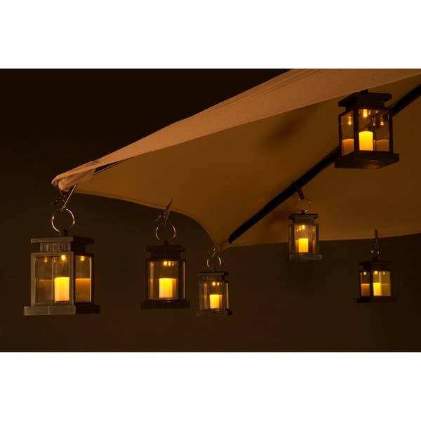 Umbrella Lantern Candle Lights Amber