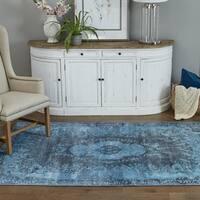 """Momeni Afshar Turquoise Blue Area Rug (7'6 x 9'6) - 7'6"""" x 9'6"""""""
