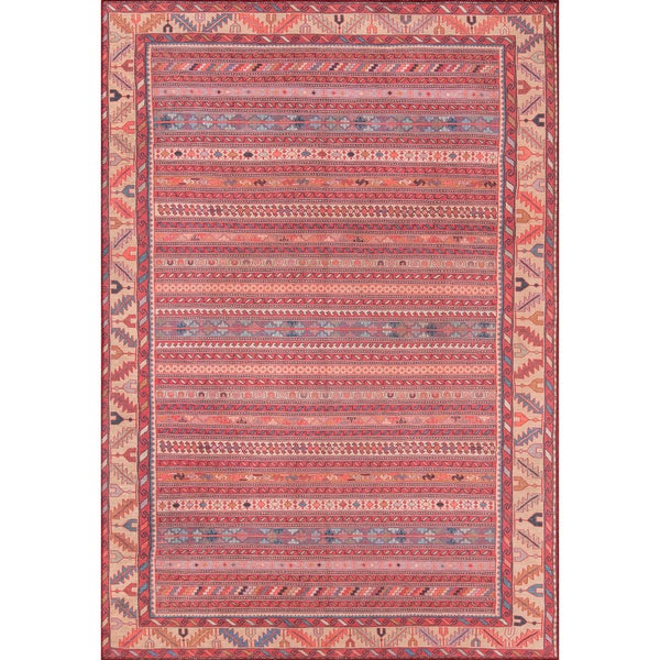 Momeni Afshar Machine Made Polyester Multi Area Rug - 2' x 3'
