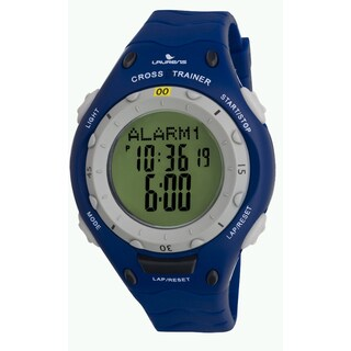 Laurens Basic Men's Blue Quartz Digital Alarm Clock Strap Watch