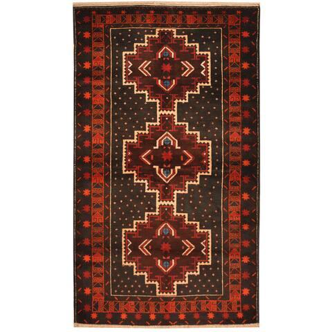 Handmade One-of-a-Kind Balouchi Wool Rug (Afghanistan) - 3'7 x 6'7