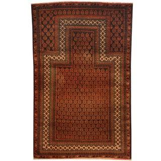Handmade Herat Oriental Afghan Tribal Balouchi Wool Rug - 2'11 x 4'7 (Afghanistan)