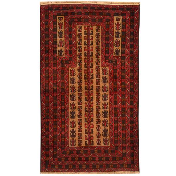 Handmade Balouchi Wool Rug (Afghanistan) - 3'1 x 5'4