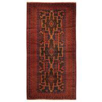 Handmade Herat Oriental Afghan Tribal Balouchi Wool Rug - 3'5 x 6'8 (Afghanistan)