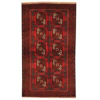 Handmade Herat Oriental Afghan Tribal Balouchi Wool Rug (Afghanistan) - 3'8 x 6'7