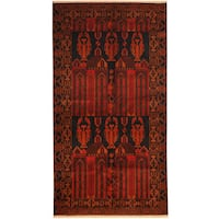 Handmade Herat Oriental Afghan Tribal Balouchi Wool Rug - 3'6 x 6'11 (Afghanistan)