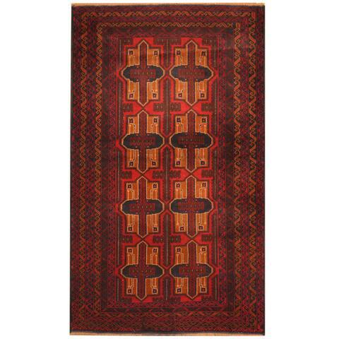 Handmade One-of-a-Kind Balouchi Wool Rug (Afghanistan) - 3'9 x 6'4