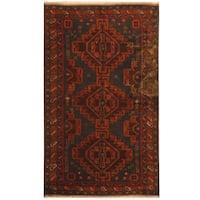 Handmade Herat Oriental Afghan Tribal Balouchi Wool Rug - 3'4 x 5'10 (Afghanistan)