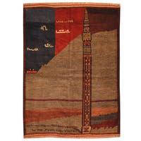 Handmade Herat Oriental Afghan Tribal Balouchi Wool Rug - 3'9 x 5'3 (Afghanistan)