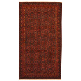 Herat Oriental Afghan Hand-knotted Tribal Balouchi Wool Rug (3'7 x 6'6)