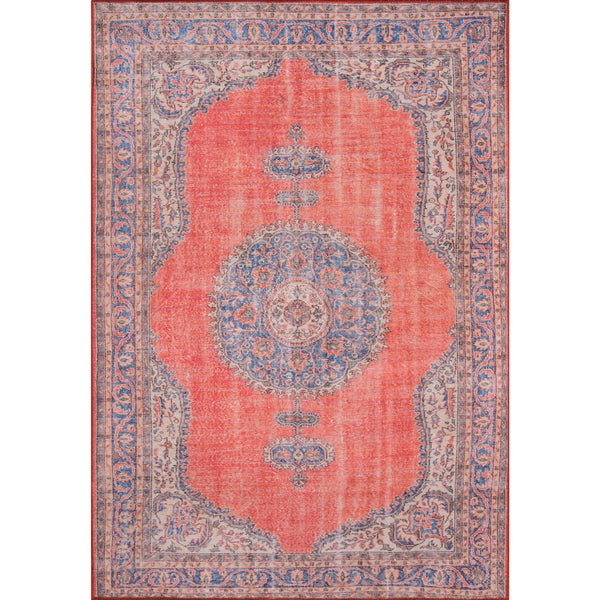 "Momeni Afshar Machine Made Polyester Red Area Rug - 7'6"" x 9'6"""
