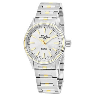 Ball Women's 'Fireman' Silver Dial Stainless Steel/Gold Swiss Automatic Watch