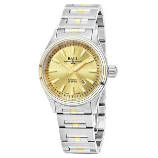 Ball Women's 'Fireman' Gold Dial Stainless Steel/Gold Swiss Automatic Watch