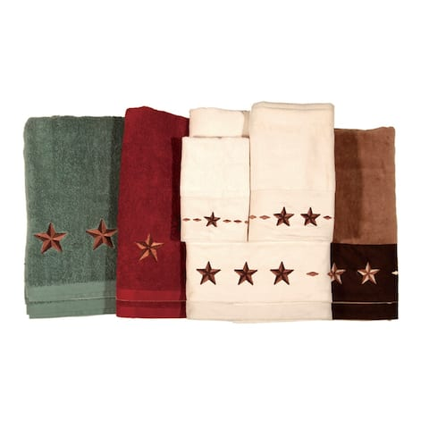 Hiend Accents Star Bath Towel (Set of 2) 28 X 51 Cream