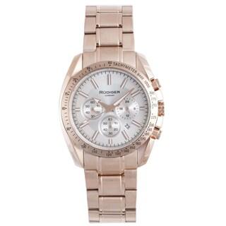 Rudiger Men's Quartz Rose Goldtone Stainless Steel Sport Bracelet Watch