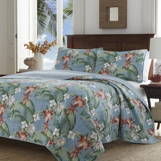 Tommy Bahama Southern Breeze Aqua Quilt Set