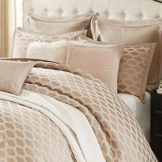 Madison Park Signature Romance Chic Pink Chenille Jacquard Comforter Set
